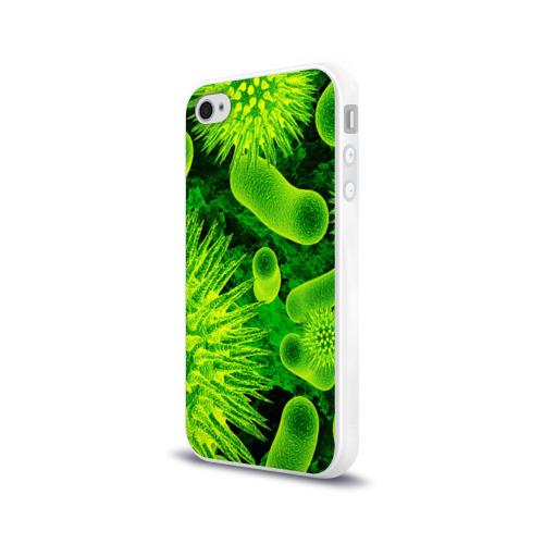 Чехол для Apple iPhone 4/4S силиконовый глянцевый  Фото 03, Вирус