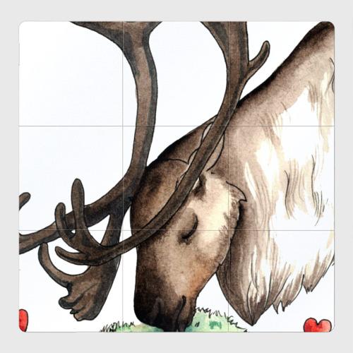 Магнитный плакат 3Х3 Олень и мох