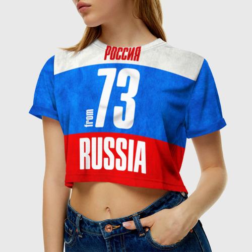 Женская футболка 3D укороченная  Фото 01, Russia (from 73)