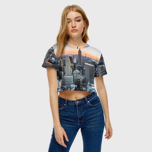 Женская футболка 3D укороченная  Фото 04, Америка