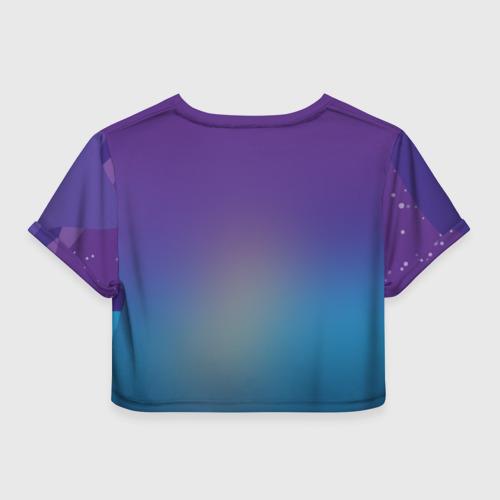 Женская футболка 3D укороченная  Фото 02, Night