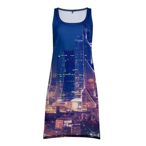 Платье-майка 3D Ночная Москва