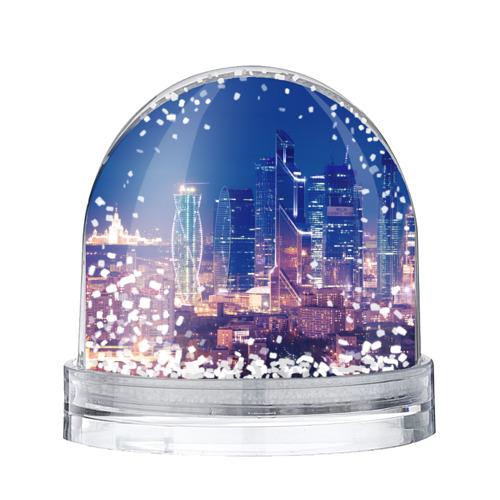 Водяной шар со снегом Ночная Москва