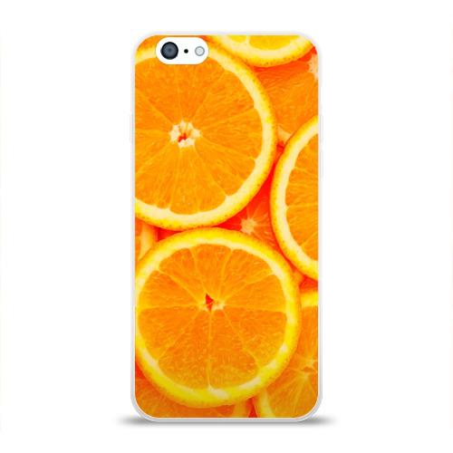 Чехол для Apple iPhone 6 силиконовый глянцевый  Фото 01, Апельсины