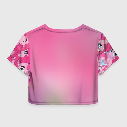 Женская футболка 3D укороченная  Фото 02, Pinky Pie