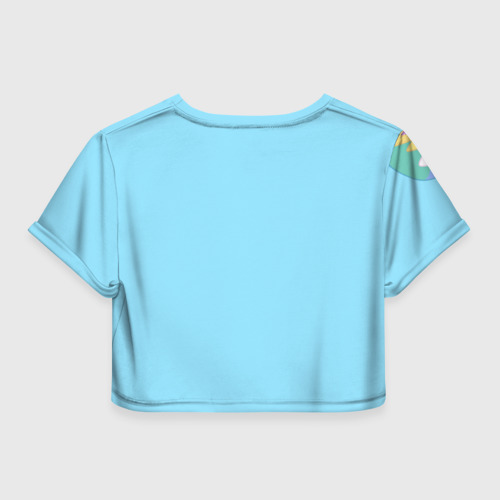 Женская футболка 3D укороченная  Фото 02, Blue