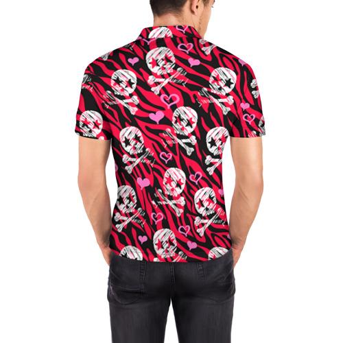 Мужская рубашка поло 3D  Фото 04, Камуфляж с черепками