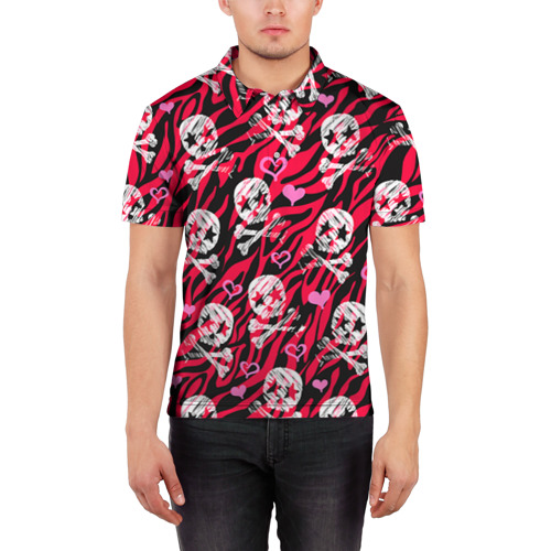 Мужская рубашка поло 3D  Фото 03, Камуфляж с черепками