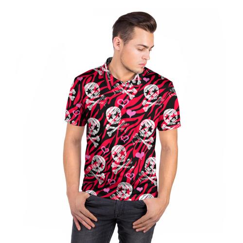 Мужская рубашка поло 3D  Фото 05, Камуфляж с черепками