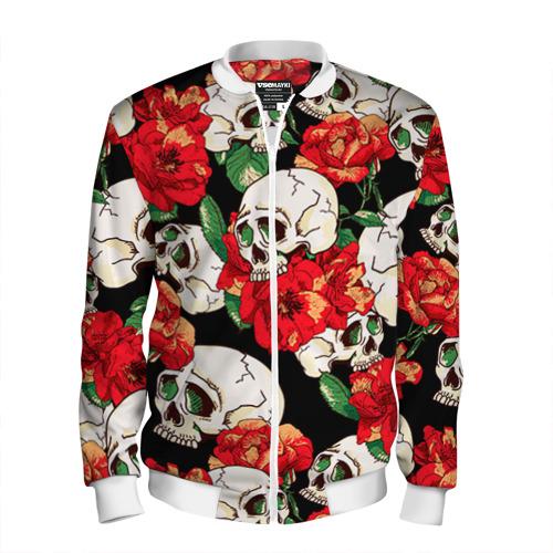 Мужской бомбер 3D  Фото 01, Черепки и розы