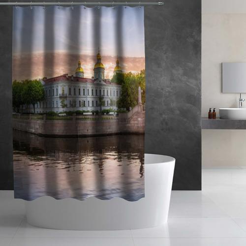 Штора 3D для ванной  Фото 03, Питер