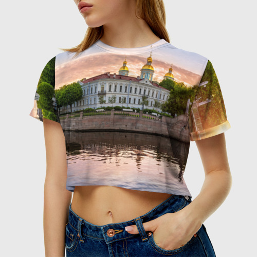 Женская футболка 3D укороченная  Фото 01, Питер