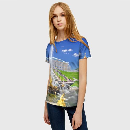 Женская футболка 3D Петергоф Фото 01