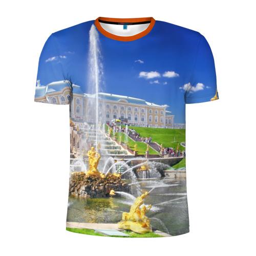 Мужская футболка 3D спортивная Петергоф
