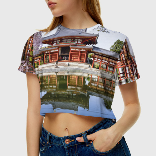 Женская футболка 3D укороченная  Фото 01, Япония