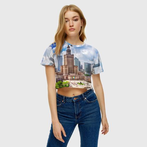 Женская футболка 3D укороченная  Фото 04, Польша