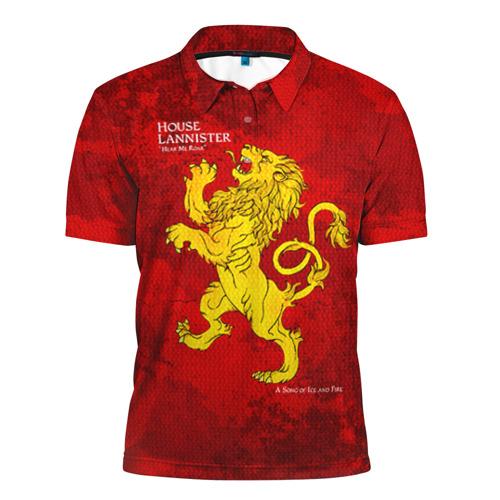 Мужская рубашка поло 3D Lannister