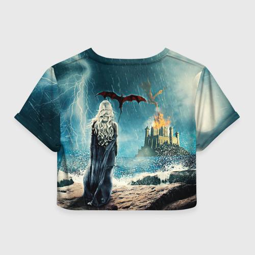 Женская футболка 3D укороченная  Фото 02, Матерь драконов