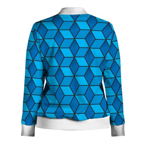 Женская олимпийка 3D  Фото 02, Blue cube