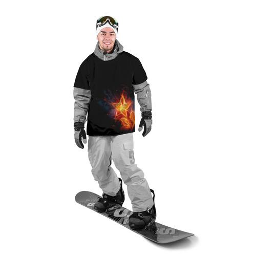 Накидка на куртку 3D  Фото 03, Огненный цветок