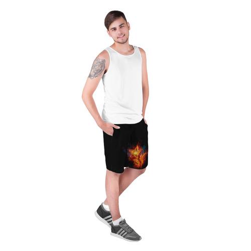 Мужские шорты 3D  Фото 03, Огненный цветок