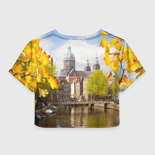 Женская футболка 3D укороченная  Фото 02, Amsterdam