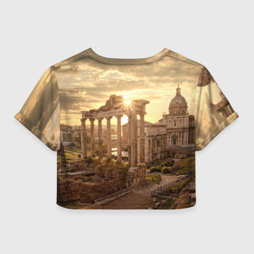 Женская футболка 3D укороченная  Фото 02, Рим