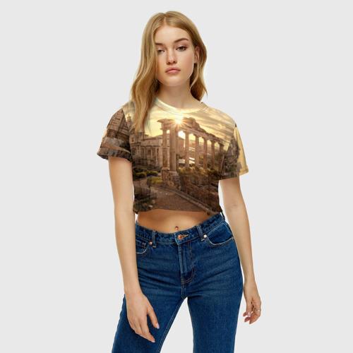 Женская футболка 3D укороченная  Фото 04, Рим