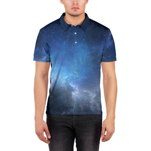 Мужская рубашка поло 3D  Фото 03, Космос