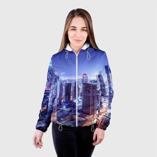 Женская куртка 3D  Фото 03, Ночной Дубай