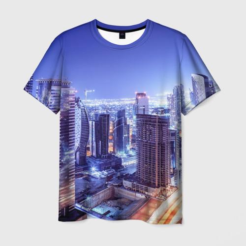 Мужская футболка 3D  Фото 01, Ночной Дубай
