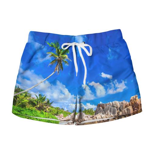 Женские шорты 3D Сейшельские острова