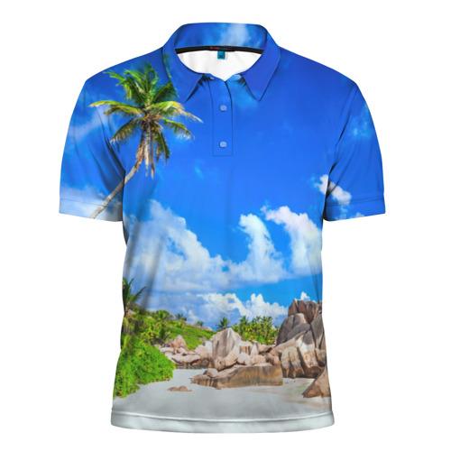 Мужская рубашка поло 3D Сейшельские острова