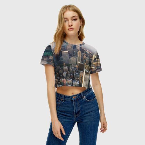 Женская футболка 3D укороченная  Фото 04, New York