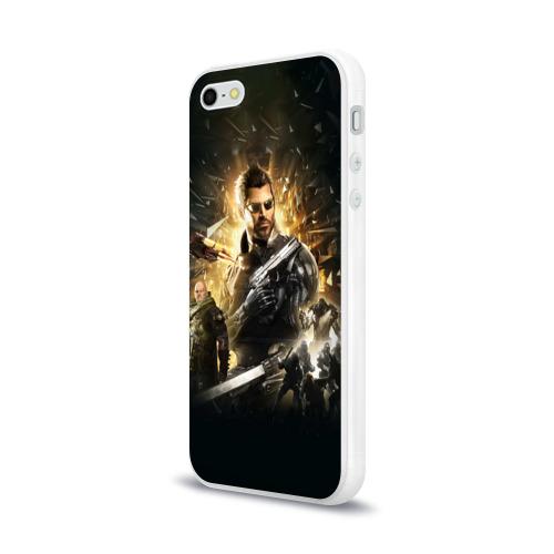 Чехол для Apple iPhone 5/5S силиконовый глянцевый  Фото 03, Deus Ex: Mankind Divided