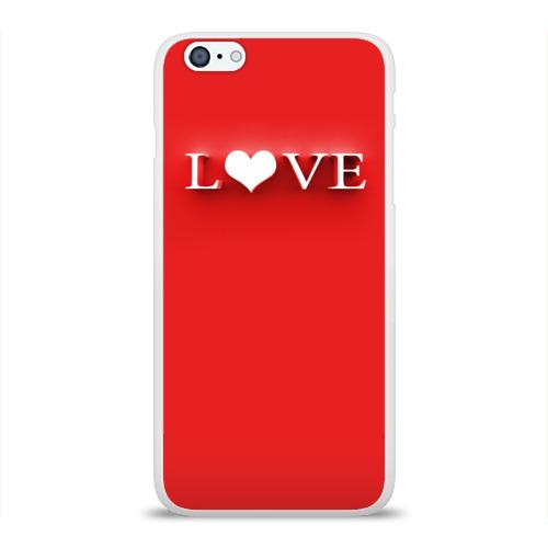Чехол для Apple iPhone 6Plus/6SPlus силиконовый глянцевый  Фото 01, LOVE