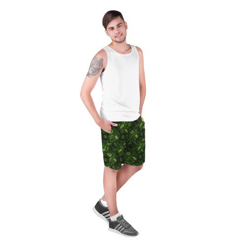 Мужские шорты 3D  Фото 03, Микробы