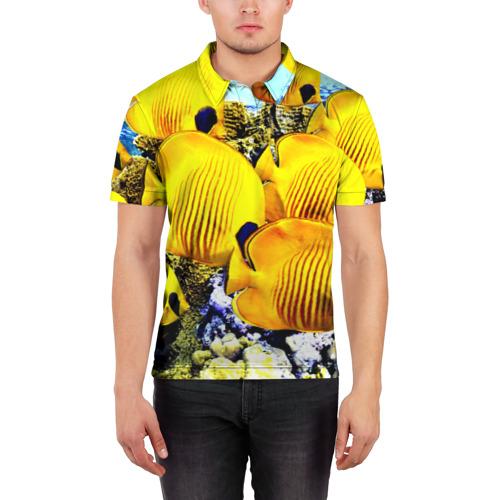 Мужская рубашка поло 3D  Фото 03, Рыбки