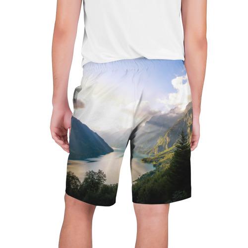 Мужские шорты 3D  Фото 02, Горное озеро