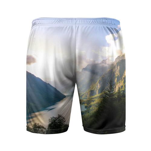 Мужские шорты 3D спортивные  Фото 02, Горное озеро