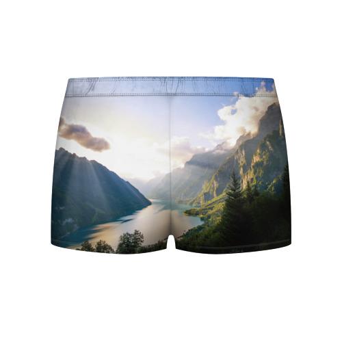 Мужские трусы 3D  Фото 02, Горное озеро