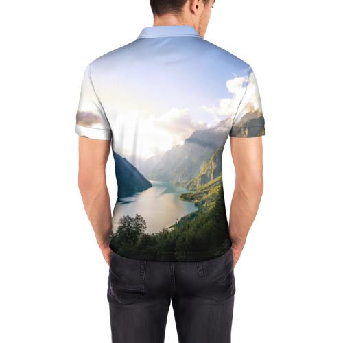 Мужская рубашка поло 3D  Фото 04, Горное озеро