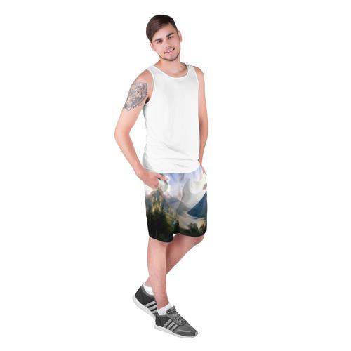 Мужские шорты 3D  Фото 03, Горное озеро