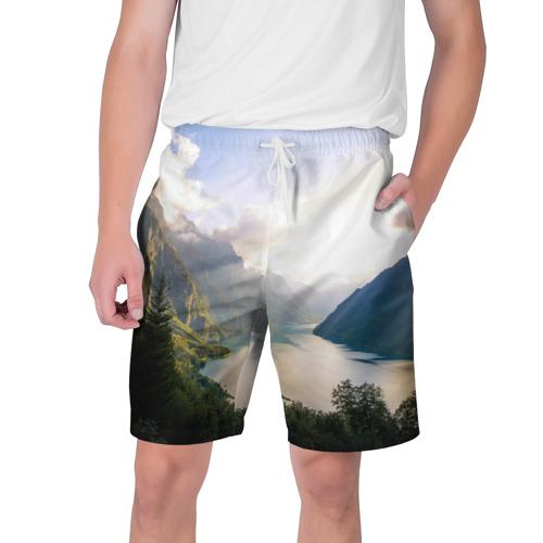 Мужские шорты 3D  Фото 01, Горное озеро
