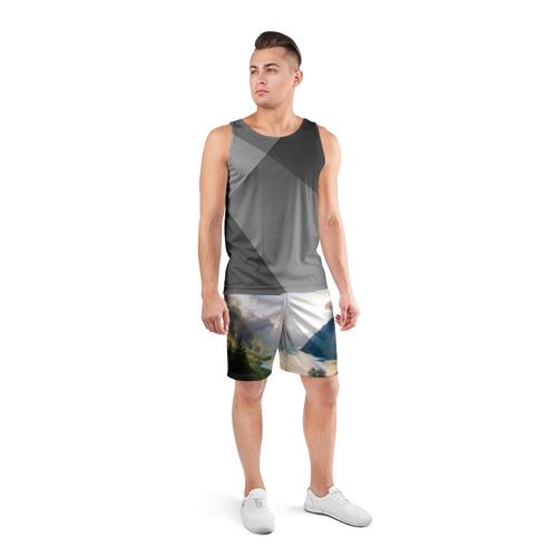 Мужские шорты 3D спортивные  Фото 04, Горное озеро