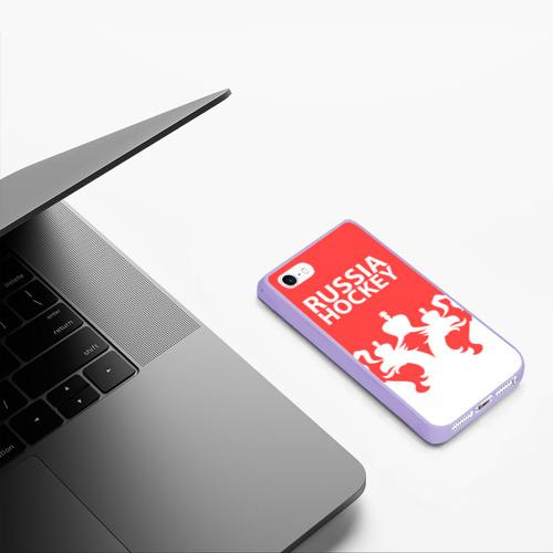 Чехол для iPhone 5/5S матовый Russia Hockey Фото 01
