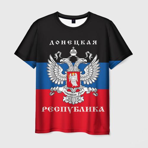 Мужская футболка 3D Донецкая республика