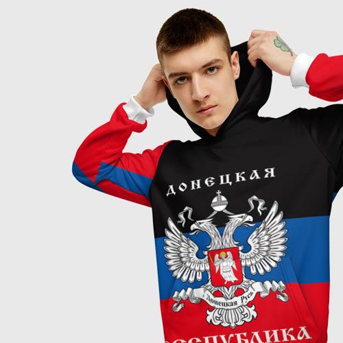 Мужская толстовка 3D Донецкая республика