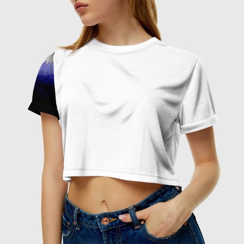 Женская футболка 3D укороченная  Фото 01, Донецкая Русь