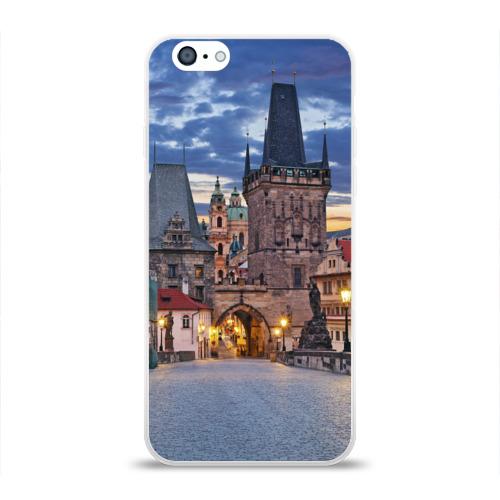 Чехол для Apple iPhone 6 силиконовый глянцевый Прага